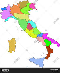 Campania Italy Map by Italy Vector Map Administrative Boundaries Eps Stock Vector