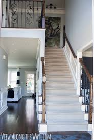 How To Build A Stair Banister How To Refinish And Update Wood Stair Railings