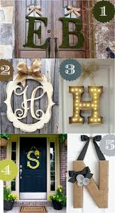 Metal Letters Home Decor by Backyards Natural Based Concept Fall Front Door Decor Home