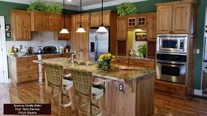 Kitchen Cabinet Wood Stains - rustic kitchen tile backsplash with natural alderwood cabinets