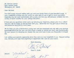 michael jordan u0027s diploma recruiting letters and transcript up