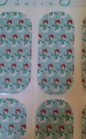 full sheet rare hard to find retired jamberry nails wraps snowman