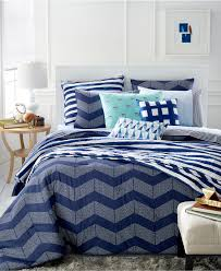 Navy Blue Rug Bedroom Stripe Navy Blue Comforter With Area Rug And Round Table