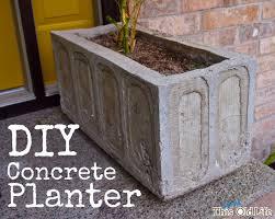 Concrete Rectangular Planter by A Diy Concrete Planter U2013it U0027s Easier Than It Looks