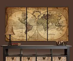 20 choices of vintage map wall art wall art ideas