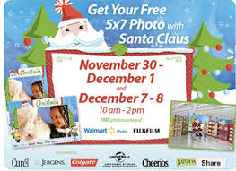 walmart free 5x7 photo with santa claus starts tomorrow u2013 hip2save