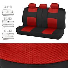 lexus seat covers nz red car seat covers floor mats set knit mesh accents w metallic