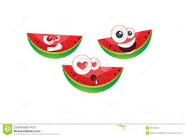 watermelon emoji watermelon emoticon vector stock illustration image 39708162