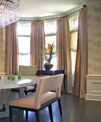 bay window decorating with relaxing roman shades and brown bay window decorating with relaxing roman shades and brown curtains in bay window decorating ideas