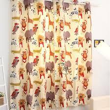 ikea cartoon animal korean cotton canvas children room curtain