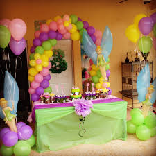 tinkerbell party ideas i like the table cloths colored runner the middle and flower