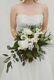 wedding flowers greenery organic wedding bouquet ideas white anemone greenery and berries