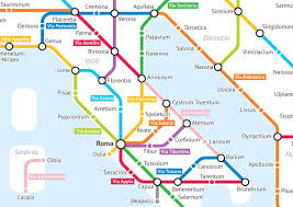 Lyon Metro Map by Turning The Roads Of Roman Empire Into A Subway Map Ufunk Net