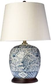 Blue Table Lamp Ralph Lauren Mandarin Floral Mandarin Blue U0026 White Traditional