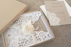 paper for invitations lillian lace collection lace wedding invitation