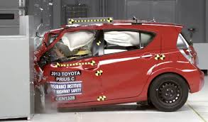 nissan versa crash test chevy spark only subcompact car to pass insurance group crash test