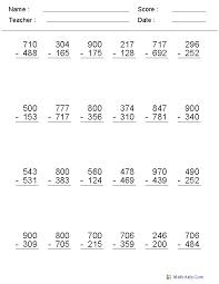 best 25 subtraction across zeros ideas on pinterest 9 times