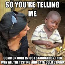 Common Memes - skeptical kid common core data collection stop common core