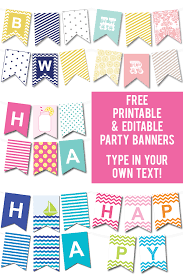 party banner 50 gorgeous free wall printables free printable party