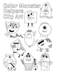 Monster Helpers Color Ins By Jenni Gee Teachers Pay Teachers Color Ins