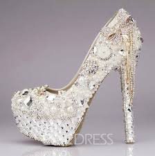 wedding shoes high luxury sparkling rhinestone tassels platform ultra high