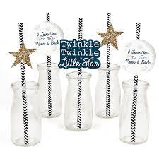 twinkle twinkle decorations twinkle twinkle party straw decor with chevron paper