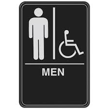 Ada Bathroom Sign Height by Shop Hillman 6 In X 9 In Men Handicap Accessible Restroom Sign At