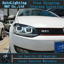 volkswagen xenon car styling vw polo headlights volks wagen polo gti led headlight