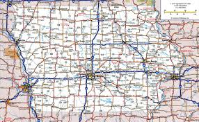 Highway Map Usa by Large Detailed Roads And Highways Map Of Iowa State With All