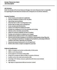 Hr Recruiter Job Description For Resume by Human Resources Job Description Human Resource Officer Job