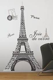eiffel tower decorations eiffel tower 56 removable wall decals mural room