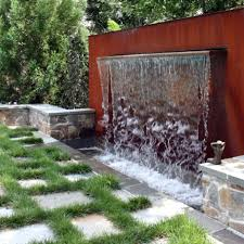 modern waterfall fountain in the backyard different types of