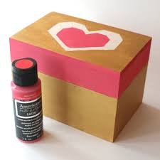 Deco En Carton I Heart You Wooden Photo Box Project By Decoart