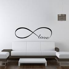 living room wall stickers infinity symbol words love wall sticker vinyl bedroom wall decal