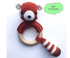 etsy crochet pattern amigurumi crochet pattern rattle red panda par knufl sur etsy amigurumi