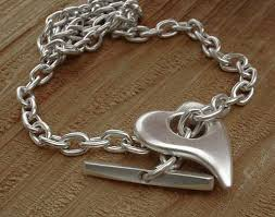 silver necklace womens images Silver heart chain necklace for women love2have in the uk jpg
