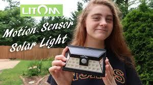 litom solar lights outdoor litom 24 led outdoor motion sensor solar light review youtube