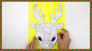 christmas craft funky reindeer youtube