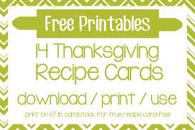 come fly with us free thanksgiving recipe card printables