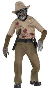 boys zombie sheriff kids costume mr costumes