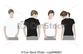 t shirt design templates front u0026 back on male and female