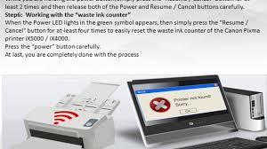 Resume Printer How To Reset Canon Pixma Ix4000 Ix5000 Printer 18002138289 Youtube