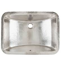 hammered nickel bathroom sink hammered nickel starr bath sink