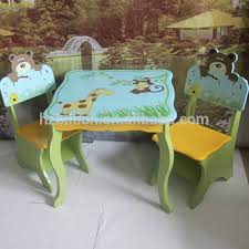 kids animal table and chairs children wooden safari animal study table and chairs kids furniture