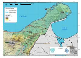 Cabo Map Physical Map Of La Guajira Full Size