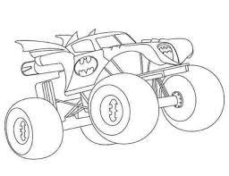 simple batman monster truck coloring pages coloringsuite