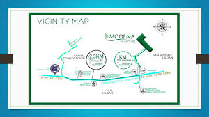 Modena Map by Newest House U0026 Lot Community In The North At Modena Residence