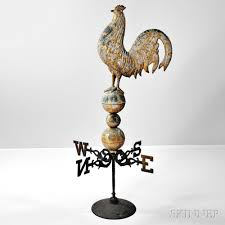 Design For Antique Weathervanes Ideas Terrific Gilt Sheet Copper Rooster Weathervane Sale Number 2922m
