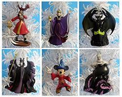 disney villains with sorcerer mickey ornament set
