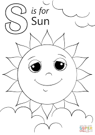 letter s is for sun coloring page free printable coloring pages
